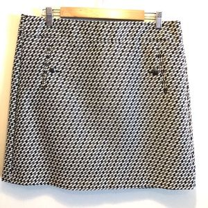 LOFT Outlet Tweed Skirt Houndstooth Texture NWOT